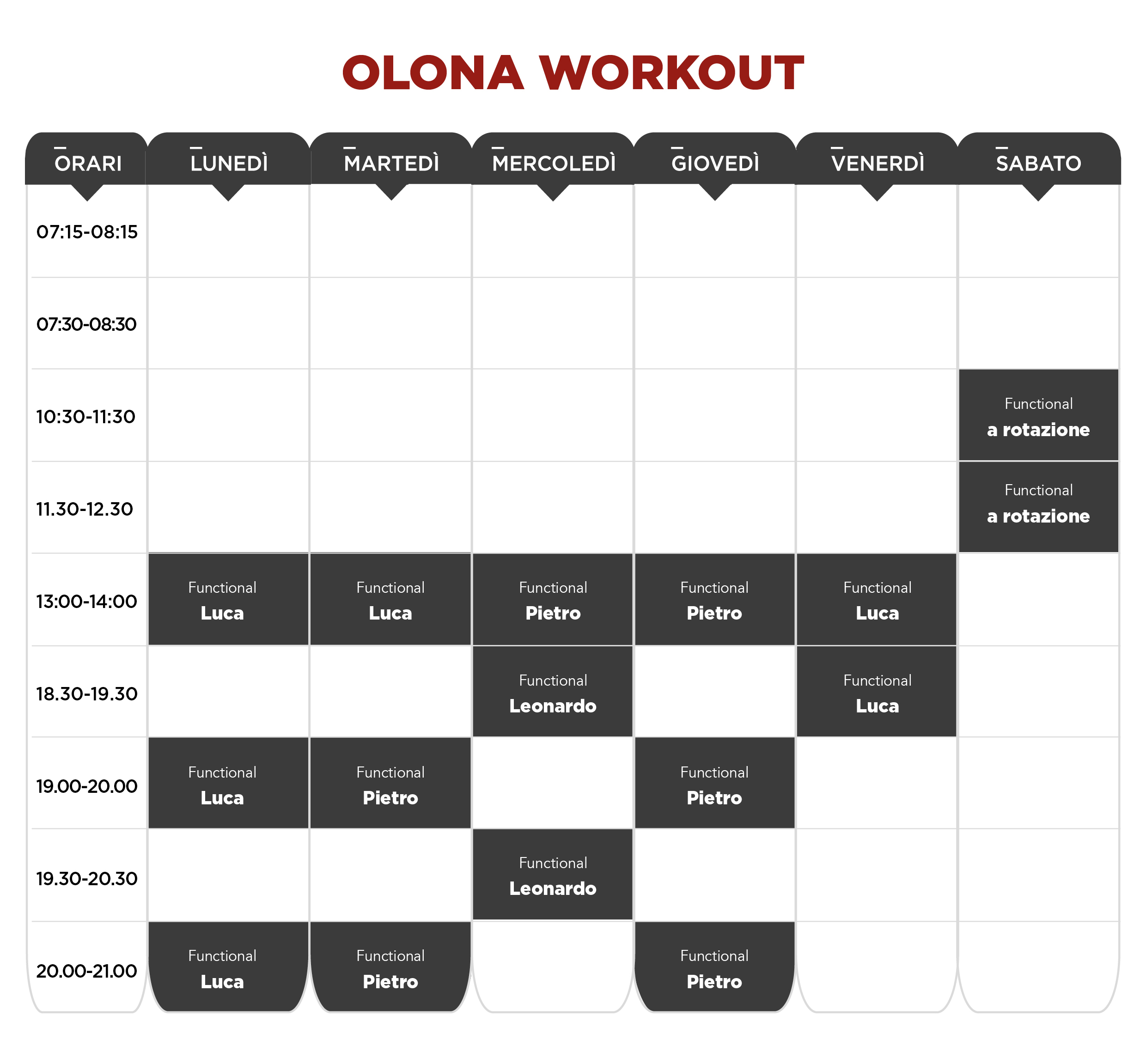 planning workout canottieri olona