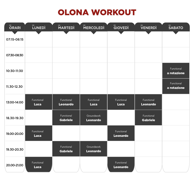 planning workout canottieri olona